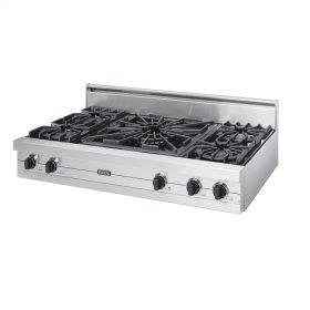 "Stainless Steel 48"" Open Burner Rangetop - VGRT (48"" wide, four burners 24"" wide wok/cooker)"