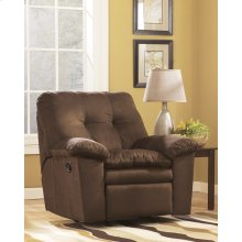 Signature Design by Ashley Mercer Rocker Recliner in Cafe Fabric