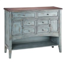 Hartford 2-door 6-drawer 1-shelf Buffet Server In Moonstone Blue