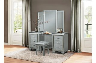 Allura Vanity Dresser with Mirror
