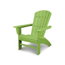 Vintage Lime Nautical Curveback Adirondack Chair in Vintage Finish