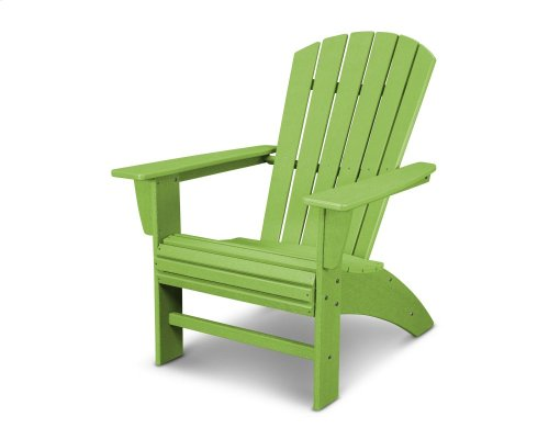 Vintage Lime Nautical Curveback Adirondack Chair in Vintage Finish