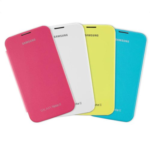 Galaxy Note II Flip Cover Bundle - Pink, Lime Green, Light Blue, Marble White