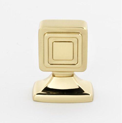 Cube Knob A986-1 - Polished Brass