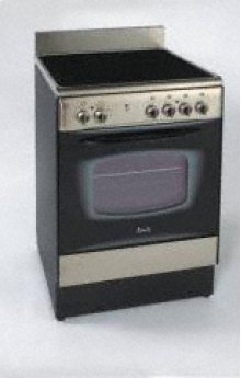 "24"" Deluxe Electric Range - Stainless Steel"
