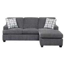Emerald Home Siesta Queen Plus Sleeper Chofa-gray W/gel Foam Mattress W/2 Accent Pillows U3261-66-13