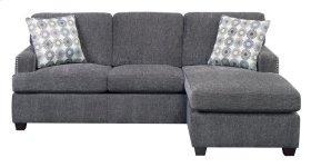 Emerald Home Siesta E King Sleeper Chofa-gray W/gel Foam Mattress W/2 Accent Pillows U3261-66-03