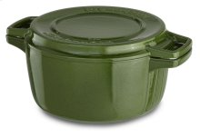 KitchenAid Professional Cast Iron 4-Quart Casserole - Ivy Green