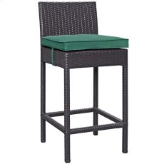 Convene Outdoor Patio Fabric Bar Stool in Espresso Green Product Image