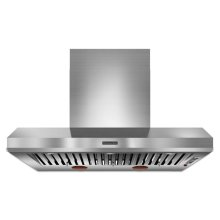 48'' Wall-Mount 600-1200 CFM Canopy Hood, Commercial-Style - Stainless Steel