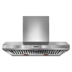 "48"" Wall-Mount 600-1200 CFM Canopy Hood, Commercial-Style - Stainless Steel"