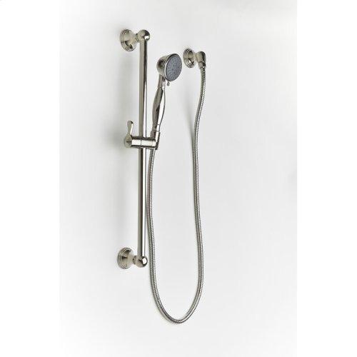 Slide Bar With Hand Shower Berea Series 11 Polished Nickel