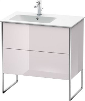 Vanity Unit Floorstanding, White Lilac High Gloss Lacquer