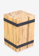 Hendrick Square Stool with metal accents (12x12x18) Product Image