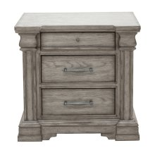 Madison Ridge 3 Drawer Nightstand in Heritage Taupe