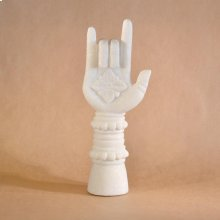 Buddhist Hands & Feet Hand Upright Gesture / White Marble