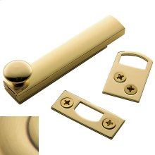 Satin Brass and Brown General Purpose Surface Bolt