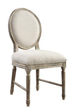 Side Chair Set Up W/upholstered Seat & Back-white Linen#anna Yt Rta Product Image