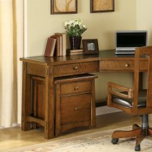 Craftsman Home - Mobile File Cabinet - Americana Oak Finish
