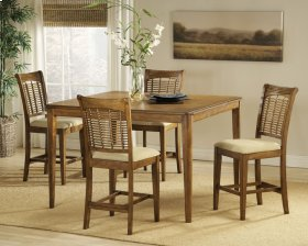 Bayberry 5pc Counter Height Set Oak