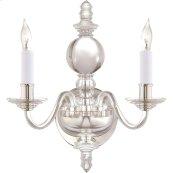 Visual Comfort CHD1155CG/PN E. F. Chapman George II 2 Light 12 inch Crystal with Polished Silver Decorative Wall Light