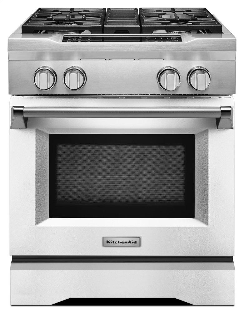 kdrs407vmw kitchenaid 30 4 burner dual fuel freestanding range