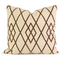 IK Ayaka Brown Velvet on Linen Pillow w/ Down Fill