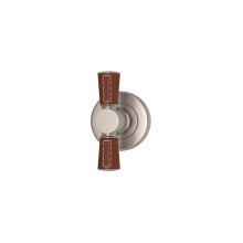 Tube Stitch Out Combination Leather In Chestnut And Satin Nickel