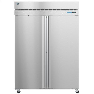HoshizakiF2A-FS, Freezer, Two Section Upright, Full Stainless Doors with Lock