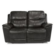 Cade Leather Power reclining Loveseats with Power Headrests Product Image