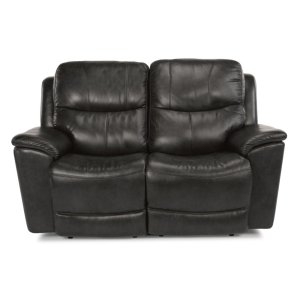 FLEXSTEELCade Leather Power reclining Loveseats with Power Headrests