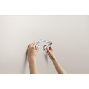 Kasey chrome pivoting paper holder