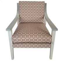 Isabelle Upholstered Pattern Wood Arm Chair