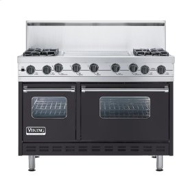 "Graphite Gray 48"" Sealed Burner Self-Cleaning Range - VGSC (48"" wide, four burners & 24"" wide griddle/simmer plate)"