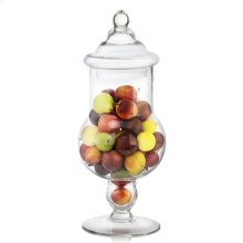Assorted Fruits In Tall Glass Apothecary Jar