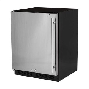 Marvel24-In Low Profile Built-In All Refrigerator With Maxstore Bin with Door Style - Stainless Steel, Door Swing - Left