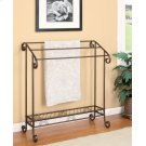 Traditional Dark Brown Metal Towel Rack Product Image