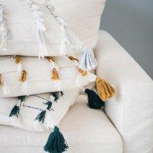 Mustard Lillian Tassel Pillow