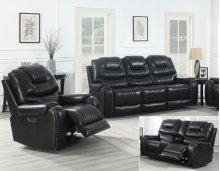 "Park Avenue Pwr-Pwr-Pwr Sofa, Black, 90.5""x40""x43"""