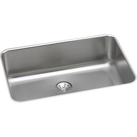 """Elkay Lustertone Classic Stainless Steel 26-1/2"""" x 18-1/2"""" x 8"""", Single Bowl Undermount Sink with Perfect Drain"""