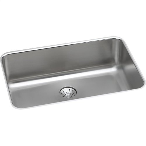 "Elkay Lustertone Classic Stainless Steel 26-1/2"" x 18-1/2"" x 8"", Single Bowl Undermount Sink with Perfect Drain"