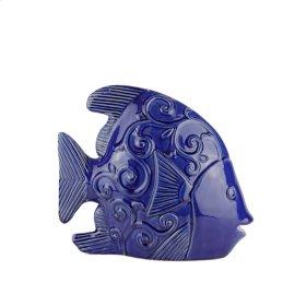 """Ceramic Fish DECOR,12.25"""",BLUE"""