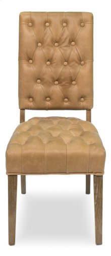 Brady Leather Side Chair, Tan
