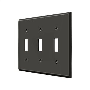 Switch Plate, Triple Standard - Oil-rubbed Bronze