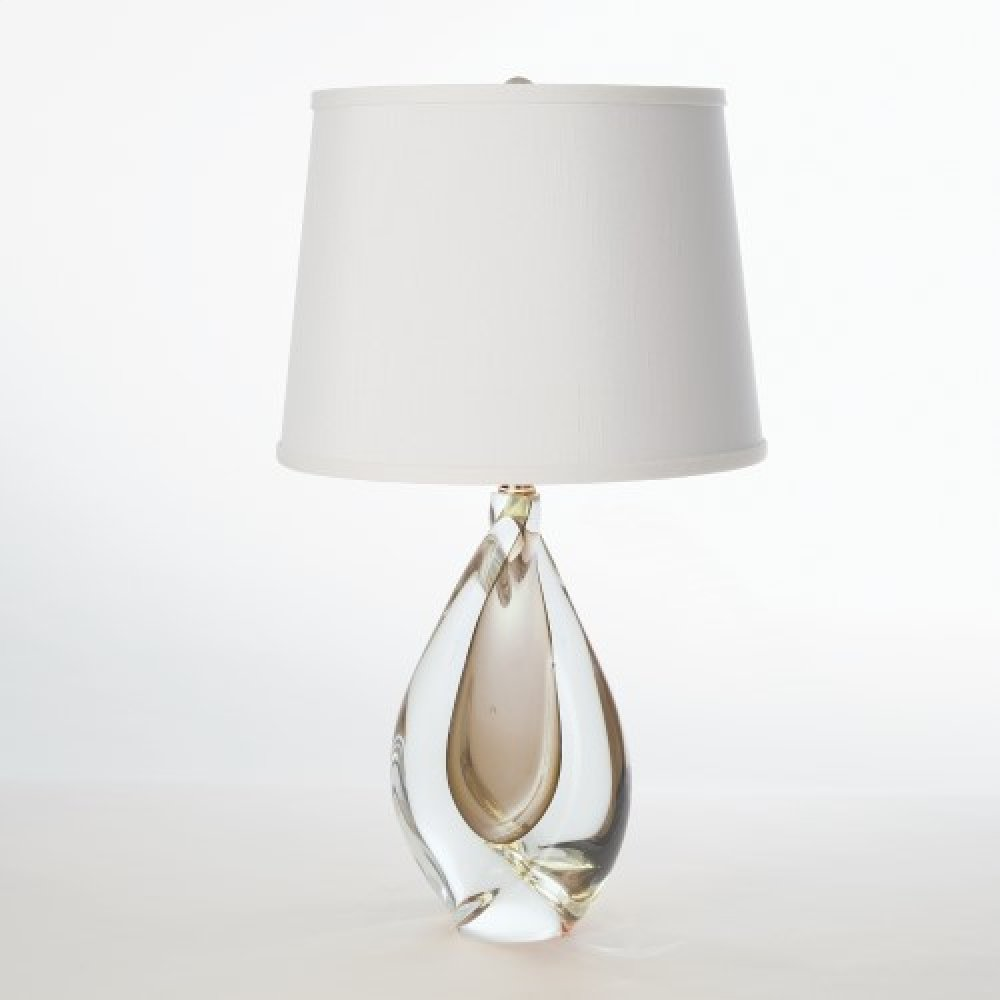 Mini Amber Twist Lamp