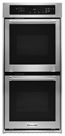 "KitchenAid® 24"" Double Wall Oven with True Convection - Stainless Steel Product Image"