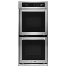 """KitchenAid® 24"""" Double Wall Oven with True Convection - Stainless Steel"""