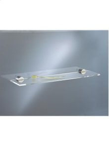 Shelf, transparent acrylic, with two holders - Grey