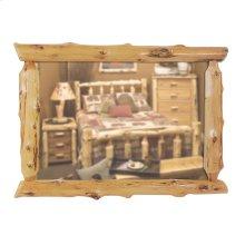 Half-Log Mirror Custom Size, Natural Cedar