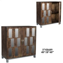 Bengal Manor Acacia Wood and Mirror 2 Door Cabinet